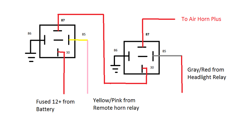 horn_relay_diagram_19389 modern vespa mp3 500 stebel horn install questions from a novice wiring diagram for air horn relay at n-0.co