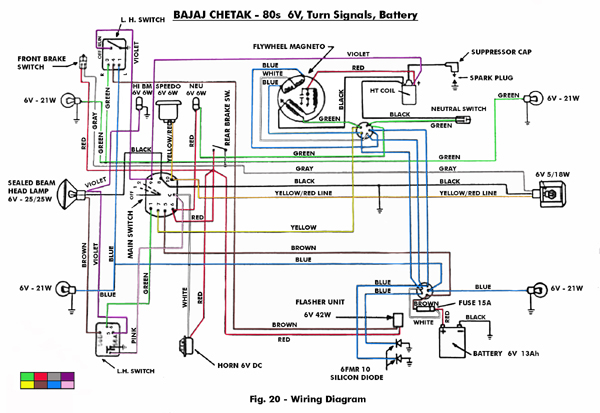 Vespa Et4 Wiring Diagram Pdf : Modern vespa a few sprint bajaj electrical questions