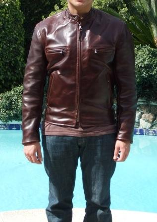 I'm a leather freak, especially cafe racer jackets. The one I chose