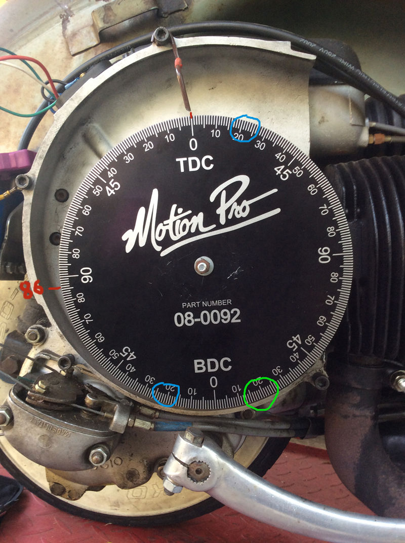 Modern Vespa : Timing trouble  How do I read this timimg wheel?