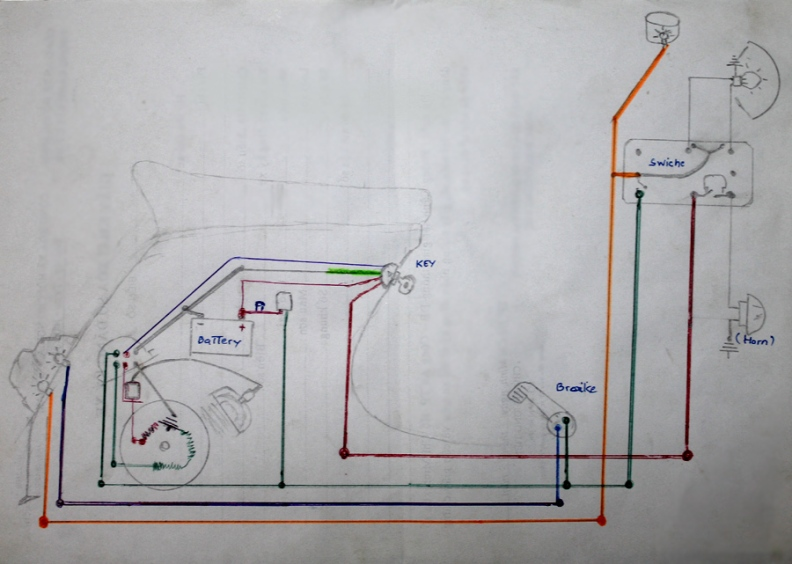 Vespa Light Switch Wiring Diagram : Modern vespa is this normally there