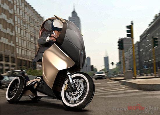 modern vespa : piaggio electric scooter