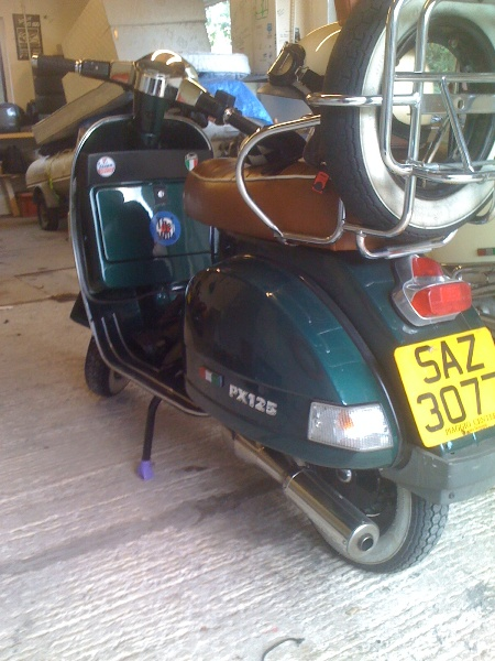 Modern Vespa : *Best* PX exhaust that lets you keep your spare wheel