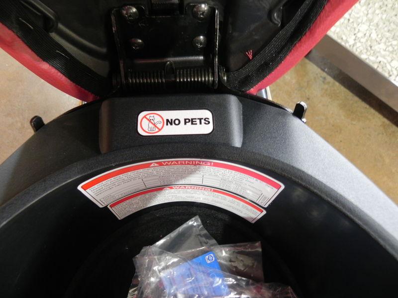 NO PETS Sticker Under Seat.JPG