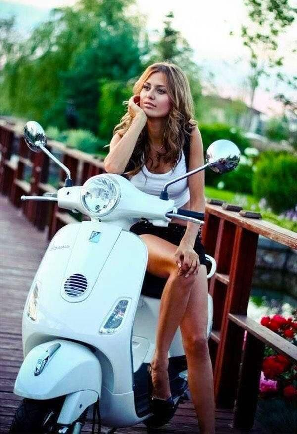 modern vespa your daily scooter girl some nsfw. Black Bedroom Furniture Sets. Home Design Ideas
