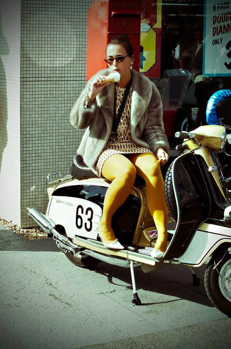 Mini San Jose >> Modern Vespa : Your new daily respectable, clothed scooter girls