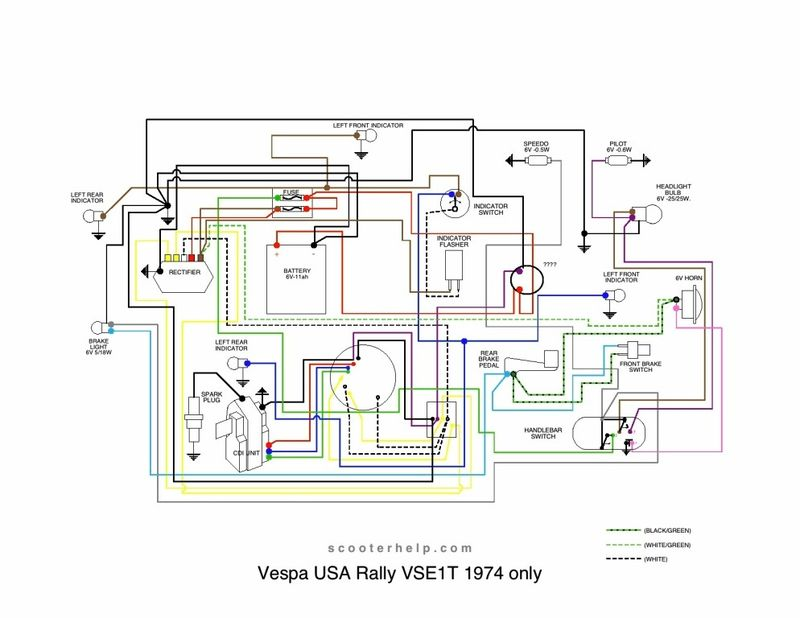 Wiring diagram for vespa rally p