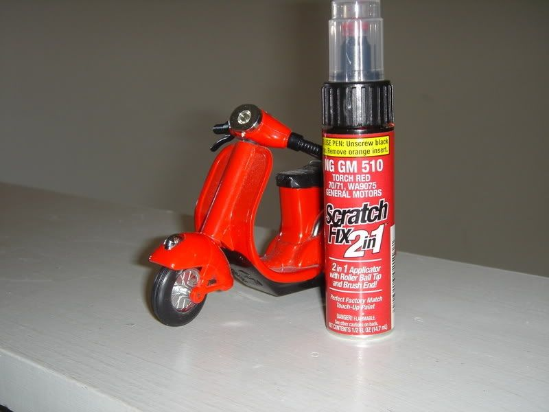 Vespa Touch Up Paint Dragon Red