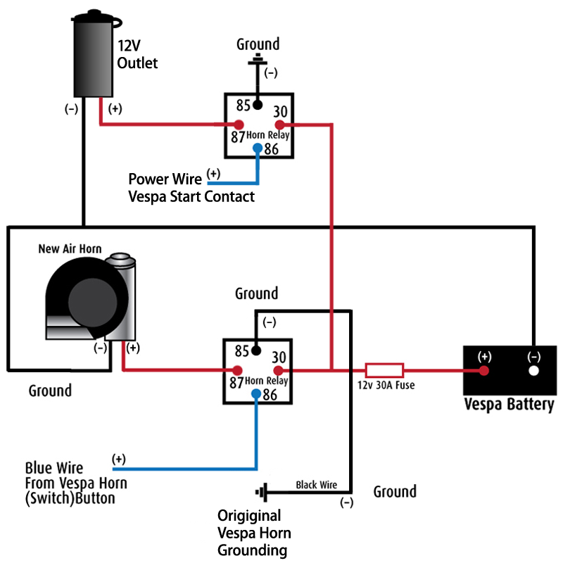 Stebel horn relay images diagram air horn relay ccuart