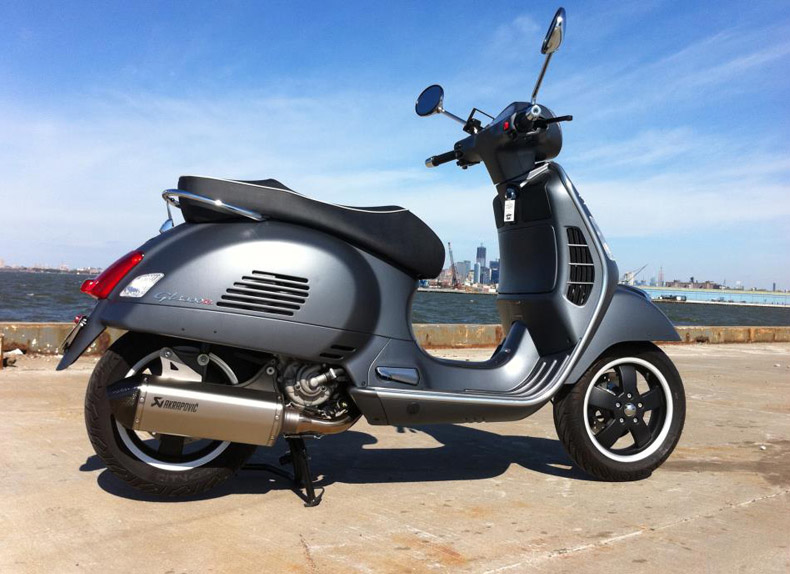 modern vespa my brooklyn beast gts 300 titanium w. Black Bedroom Furniture Sets. Home Design Ideas