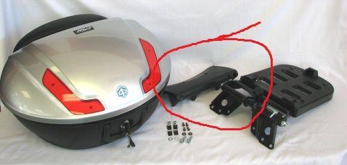 modern vespa piaggio top case passenger backrest that mounts to scooter. Black Bedroom Furniture Sets. Home Design Ideas