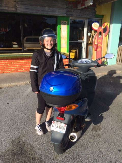 Scooter Claire at Hot Dot Deli.JPG