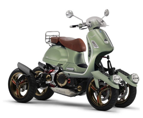 modern vespa : piaggio mp3, eat your heart outhere's a 4-wheeler
