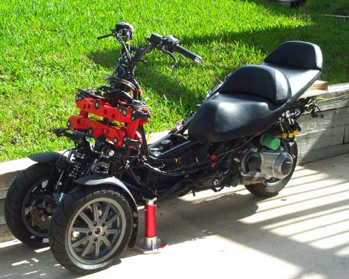 piaggio mp3 frontend tilt car/kart idea :) - custom fighters