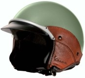Happens. Vintage green vespa helmet