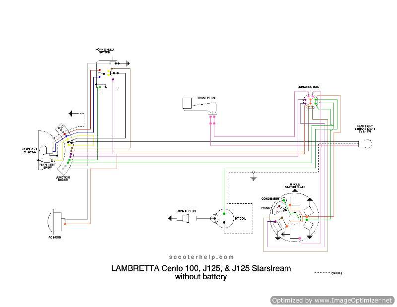 cento_wiring_optimized_129 modern vespa help wiring up a 6v ac scooter in a bench stand vespa p125x wiring diagram at highcare.asia