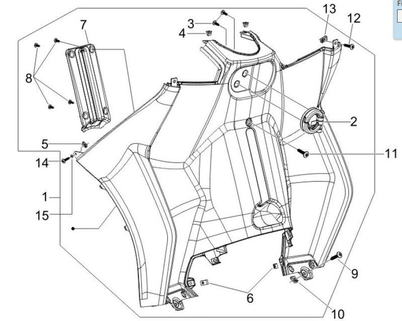 modern vespa : sold - piaggio mp3 250 or 400 counter shield