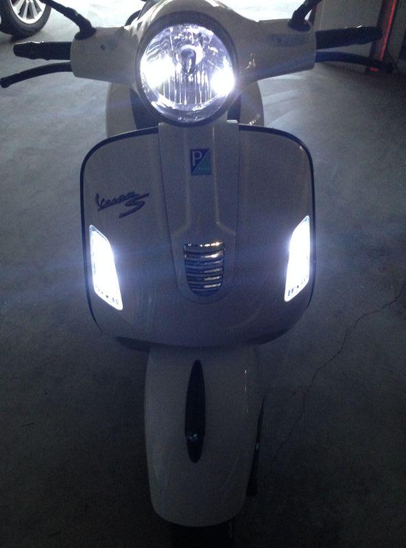 Hid Light Bulbs >> Modern Vespa : 2013 GTS Lighting upgrade to LED