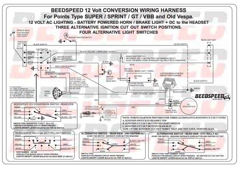 Basic Vespa 12v Wire Diagram | Wiring Schematic Diagram on