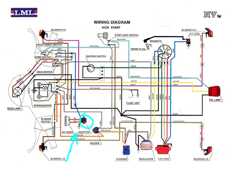Vespa Et4 Wiring Diagram Pdf : Modern vespa is there and adaptor on lml nv for horn
