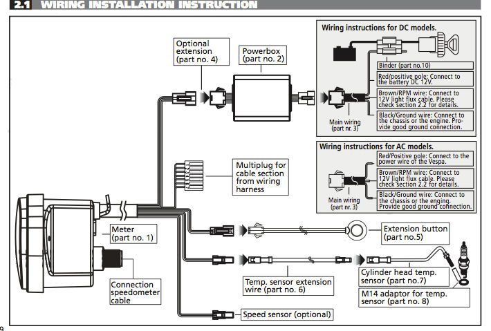 digital speedometer wiring diagram