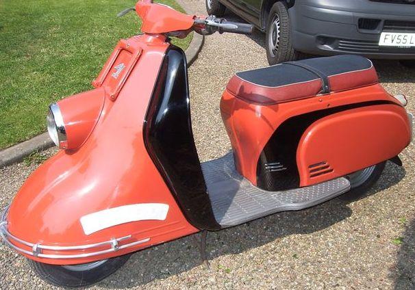 modern vespa ray gun scooter. Black Bedroom Furniture Sets. Home Design Ideas