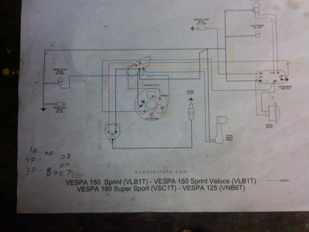 modern vespa 1961 allstate 1954 allstate scooter wiring diagram