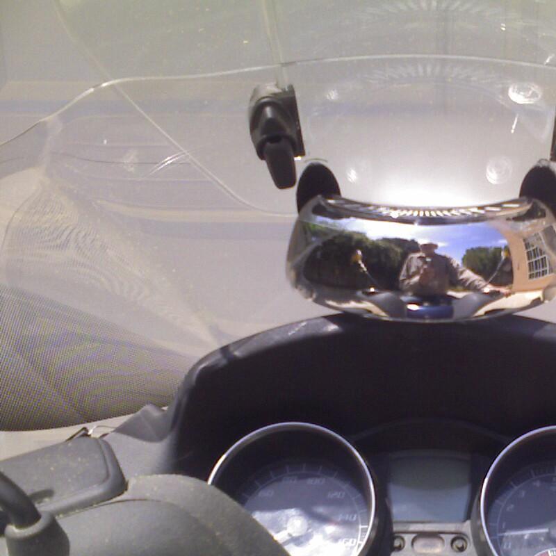Modern Vespa Motorcycle Blind Spot Mirror Lifesaver