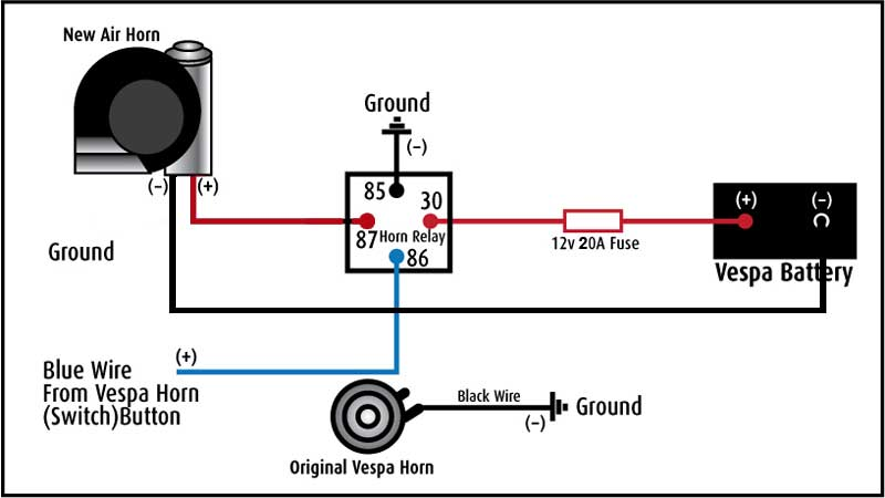 scooter air horn wiring diagram