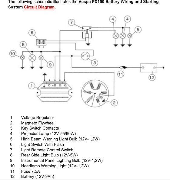 Modern Vespa   Adding Battery To Vnb For Additional 12v Dc