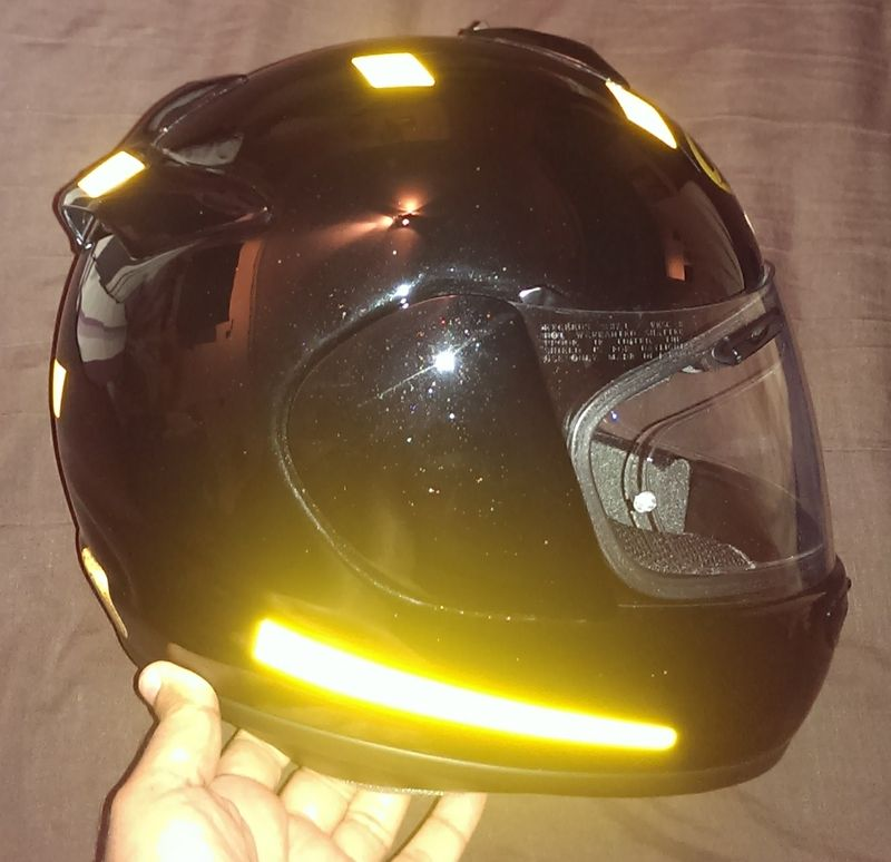 Motorcycle Helmet Visor Decals and Stickers