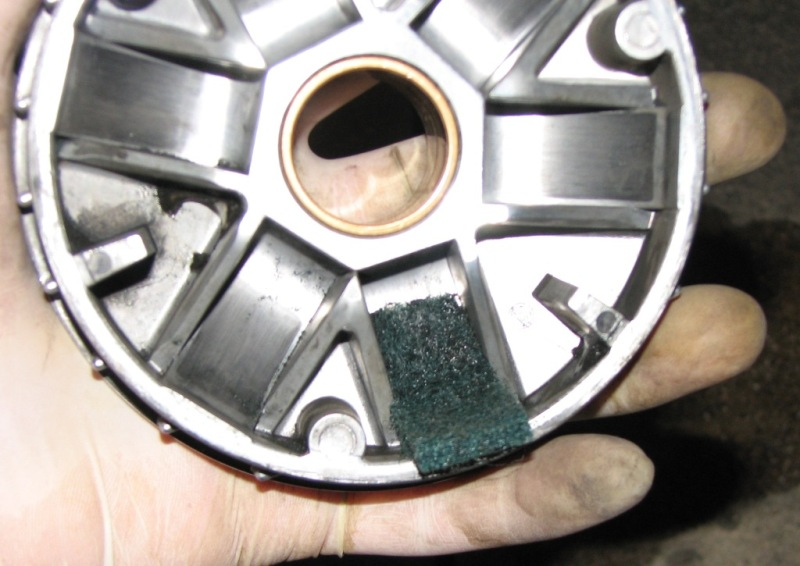 12 Cleanup inner half pulley.JPG