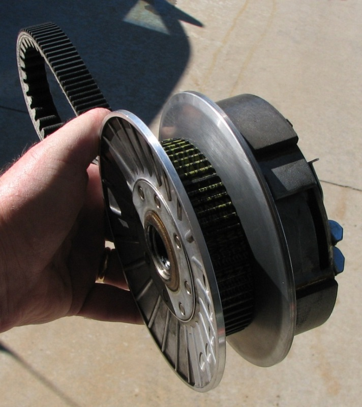 26 Re-Assembly Belt on driven pulley.JPG
