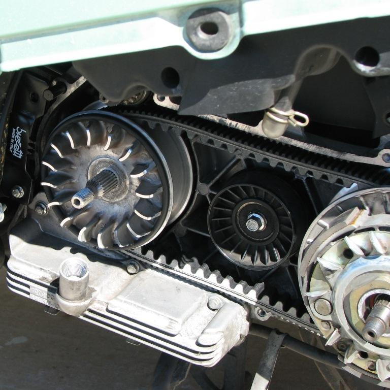 30 Re-Assembly Belt on driving pulley.JPG