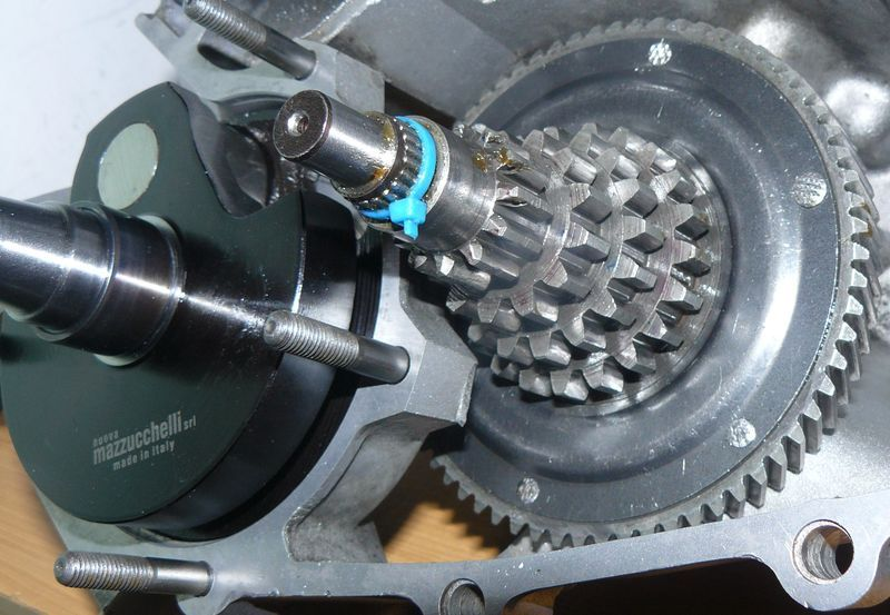 installing input shaft and gear cluster.jpg