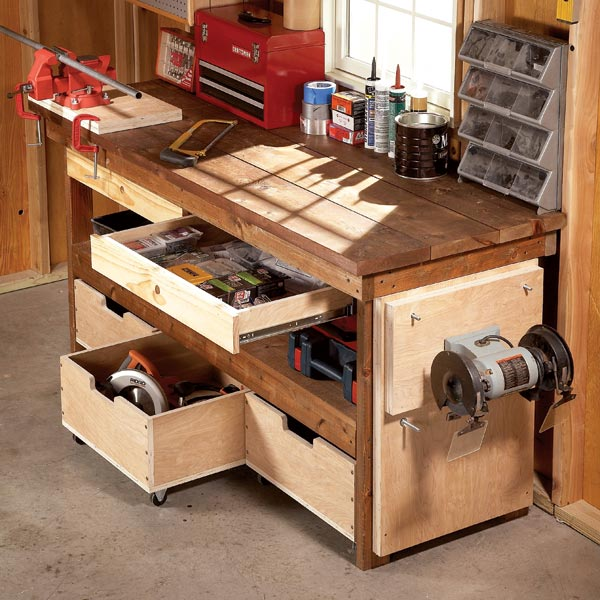 woodwork diy workbench pdf plans