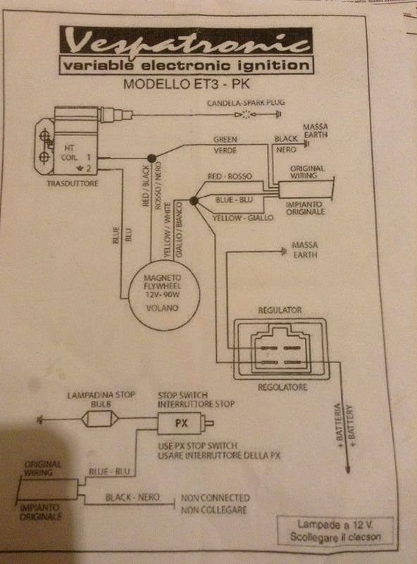 wiring diagram 1971 honda 750 four modern vespa : wiring help- confused! vespatronic wiring diagram #12