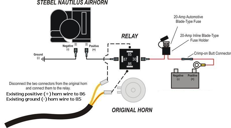 general_relay_wiring_diagram_1_118 horn relay wiring diagram diagram wiring diagrams for diy car horn wiring diagram with relay at bayanpartner.co