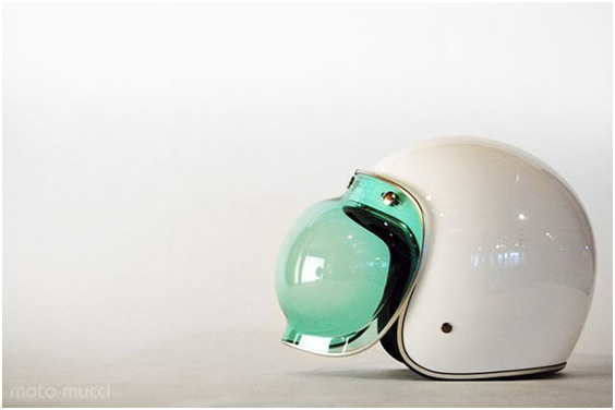 2a209718 Modern Vespa : Thinking of getting a bubble shield for my jet helmet