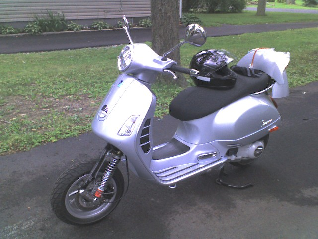 Modern Vespa : First accident on two wheels