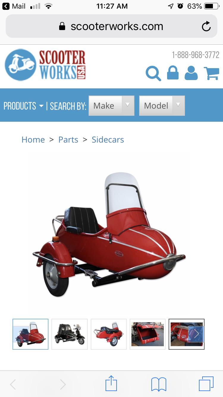 Modern Vespa : Sidecar mania