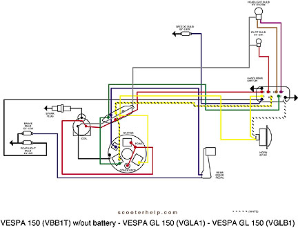 modern vespa stator ground wire rh modernvespa com Future Champion Scooter Wire Diagram Chinese Scooter Wiring Diagram