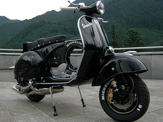 Modern vespa where can i get these for Vespa cafe racer