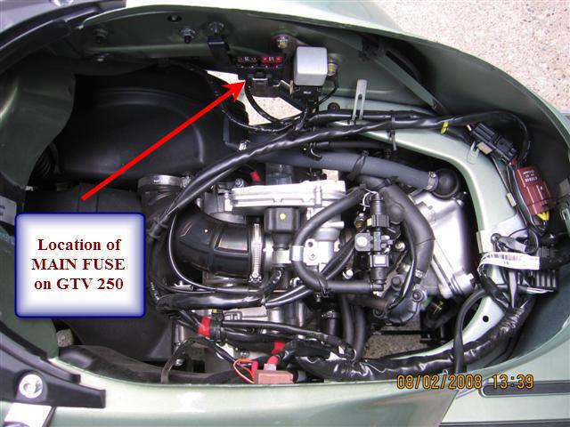 modern vespa 2008 gtv 250 engine died left stranded. Black Bedroom Furniture Sets. Home Design Ideas